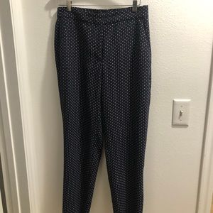 J Crew square pattern trousers